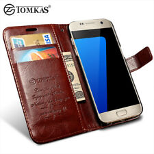 Samsung Galaxy S7 G9300 Wallet Phone Bag Cover Card Holders TOMKAS Flip Leather