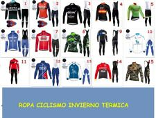 Ropa ciclismo invierno termica thermal fleece maillot y culote cycling vélo bike