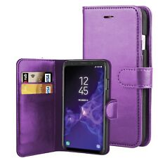 Leather Wallet Flip Case Cover Pouch For Samsung Galaxy S9 Plus