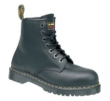 Dr Martens Icon Black Leather Ankle Safety Boots 6601 BRAND NEW BARGAIN
