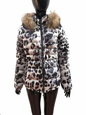 WOMENS LEOPARD PRINT  DOWN FEATHERS JACKET, RRP £990, SIZE 1-4
