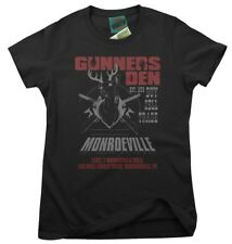 DAWN OF THE DEAD inspired GUNNERS DEN Monroeville zombie, Mujeres Camiseta