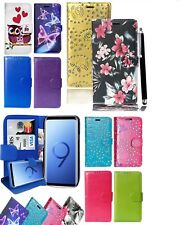 Samsung Galaxy S9 & S9 Plus Mobile Phones - Wallet Flip Leather Case Cover