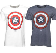 OFFICIAL MEN'S MARVEL CAPTAIN AMERICA SHIELD CREW NECK T SHIRT- FAST DELIVERY