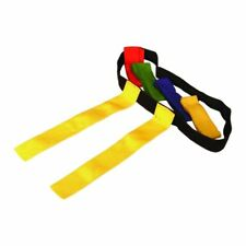 Rugby Tag Belt Blue Red Green Yellow One Size Play Training Aid Pack 3 6 10 15
