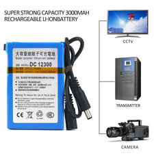 12V 3000mAh Lithium-ion Super Rechargeable Battery Pack + Charger US/EU Plug ba