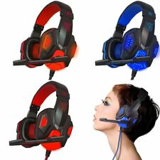 USB 3.5mm Surround Stereo Gaming Headset Headband Headphone with Mic for PC QS