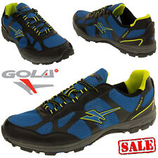 GOLA Men's Enduro Trainers Sports Track Trail Running Shoes Sneakers Blue AMA683