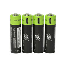 2-8pcs ZNTER 1.5V AA 1250mAh Lithium Rechargeable Battery MICRO USB Charging hot