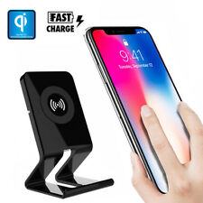 QI Wireless Charging Silm Fast Charger Holder Dock for iPhone X 8 Plus Note 8 S8