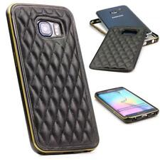 Urcover® Handy Schutz Hülle Samsung Galaxy S6 Edge Case Quilted Diamand Cover