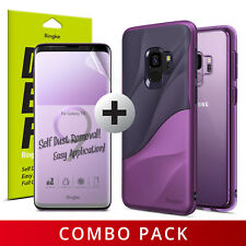 For Galaxy S9/S9 Plus | Ringke Purple Combo Cover Case + Full Screen Protector