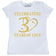 Inktastic 30th Wedding Anniversary Gift Women's T-Shirt Party 30 Years Couples