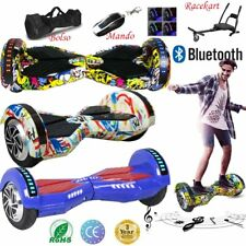 """8"""" PATINETE ELECTRICO BLUETOOTH HOVERBOARD SCOOTER SELF BALANCE MANDO BOLSO LED"""