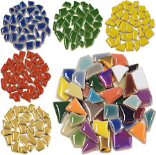 Flip Ceramic Mosaic Tiles for arts and crafts - 100g Various Colours