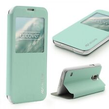 Urcover® Samsung Galaxy S5 Kunststoff Wallet S-View Standfunktion Cover
