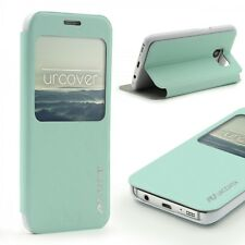 Urcover® Samsung Galaxy S7 Kunststoff Wallet S-View Standfunktion Cover