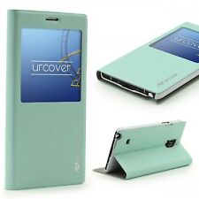 Urcover® Samsung Galaxy Note 4 Kunststoff Wallet S-View Standfunktion Cover