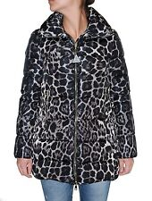 Moncler Women's Torcelle Leopard Print Quilted Down Puffer Coat, Black