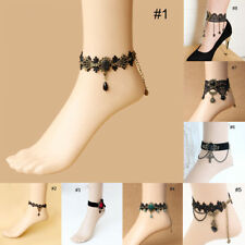 Gothic Masquerade Lace Flower Ankle Anklet Belly Dance Barefoot Foot Bracelect