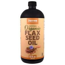 Jarrow Formulas, Certified Organic Flax Seed Oil, 32 fl oz (946 ml)