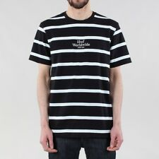 HUF Golden Gate Stripe Knit T-shirt - Black/White