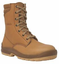 Jallatte Jalosbern J0662 Tan Brown Lace Up Safety Leather Work Toecap Boots