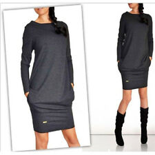 Autumn Winter Dresses 2018 Fashion Women Long Sleeve O-Neck Casual Pocket Dress1