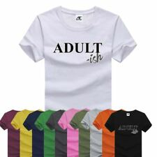 Adultish Printed Top Mens Boys Half Sleeve Crew Neck Cotton Gym T Shirt