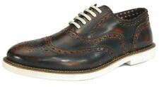 LONDON Brogues Farnham Hombre Encaje Zapatos color canela/Blanco Formal
