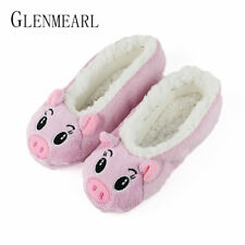 Cute Women Slippers Animal Winter Warm Soft Indoor Slipper Home Shoes Flats Non-