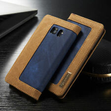 Jean Leather Flip Wallet Magnetic Case Cover for Samsung Galaxy S6 S8 + S7