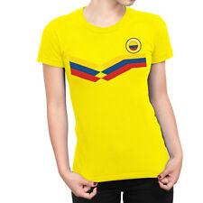 COLOMBIA World Cup 2018 LADIES T-Shirt FOOTBALL New Style Retro
