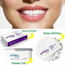 SMILES Original Teeth Whitening Strips Brightening Tooth Powder White Advance