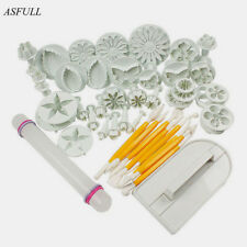 Asfull New 46Pcs/Set Fondant Cake Decorating Sugarcraft Plunger Cutter Tools Mol