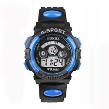 2017 Waterproof Children Boy Digital Led Quartz Alarm Date Sports Wrist Watch Dr