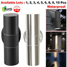 Stainless Steel GU10 Wall Light IP44 LED Double Up & Down Outdoor Garden Patio