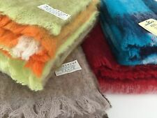 Manterol Blanket Throw Soft Wrap Mohair 130x170cm Red Brown Orange Lime