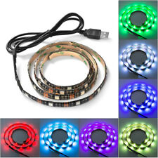 1m/2m LED Home Theater TV Backlight RGB Multi-Color Changing Strips Light USB