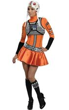 LICENSED X-WING FIGHTER PILOT STAR WARS ADULT WOMENS FANCY DRESS X WING COSTUME