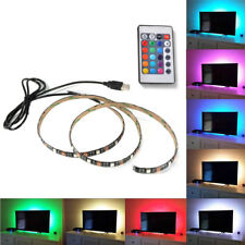 USB LED RGB Multi Color Strip Light Lamp TV Backlight DC 5V + Remote Controller