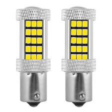 2x 1156 BA15S 66LED 2835 SMD Car Reverse Turn Tail Light Bulb White/Amber DC 12V