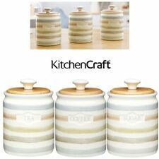 KitchenCraft Classic Collection Caddies Tea Coffee Sugar Caddy Storage Cannister
