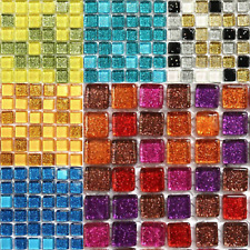 MINI GLITTER 10mm Sparkling CRISTALLO - 81pcs VARI COLORI