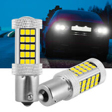 2PCS 1156 P21W 2835 SMD 66 LED Bulb White/Amber Car Backup Reverse Light DC 12V