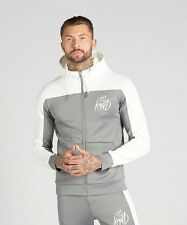 Kings Will Dream Men's Merton Poly Hooded Top Grey/Ecru