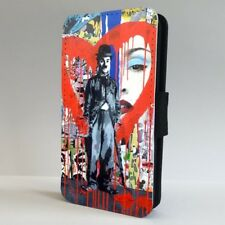 banksy Charlie Chaplin Street Art FLIP PHONE CASE COVER for IPHONE SAMSUNG