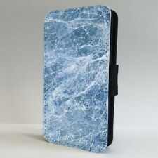 Blue Marble Effect Stone FLIP PHONE CASE COVER for IPHONE SAMSUNG