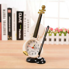 Creative Retro Violin Desk Clock Sveglia Stand Orologio Home Decor Table