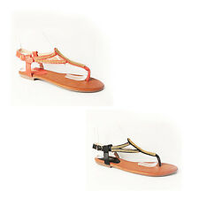 WOMENS CASUAL SUMMER BEACH STRAPPY FLAT FLIP FLOPS SANDALS LADIES SHOES SIZE 3-8